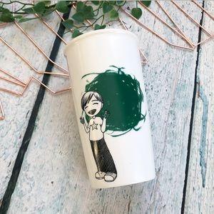 Starbucks 2015 green dot kid ceramic travel mug